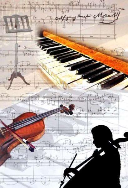 Klappkarte Symphonie Mozart