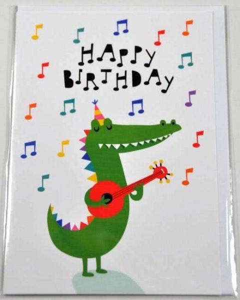 Doppelkarte Krokodil Happy Birthday