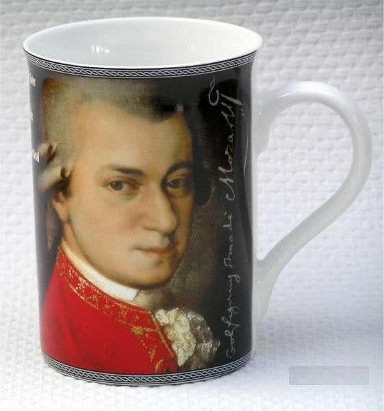 Porzellanbecher Mozart Biographie