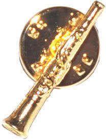 Anstecker Klarinette klein vergoldet