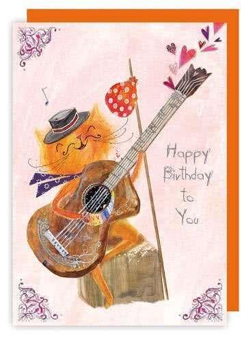 Klappkarte Happy Birthday To You Miezekatze
