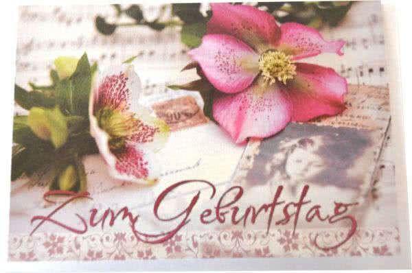 Klappkarte Blumen Zum Geburtstag