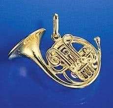 Doppelhorn in F/B als Brosche