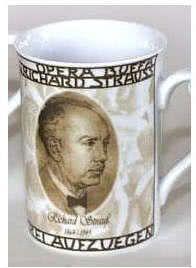 Porzellanbecher R. Strauss