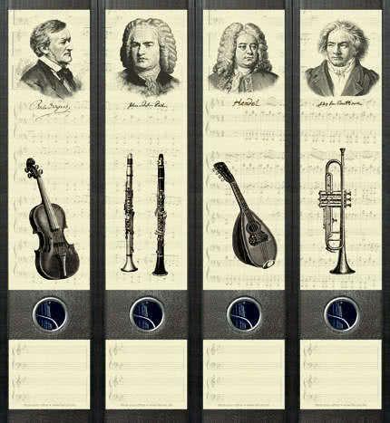 Ordner Etikette Music my first love