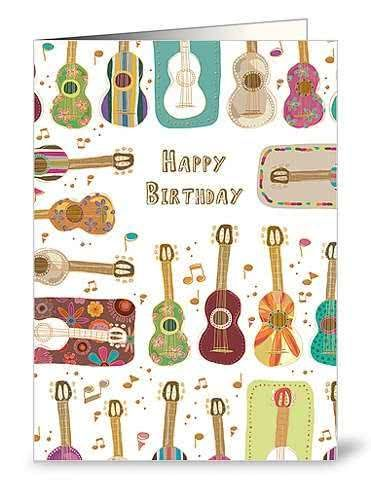 Klappkarte Happy Birthday (Gitarren 2)