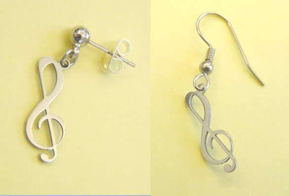Ohrhänger Violinschlüssel Steel Design
