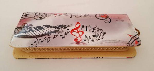 Geldbörse Piano Notes rosa