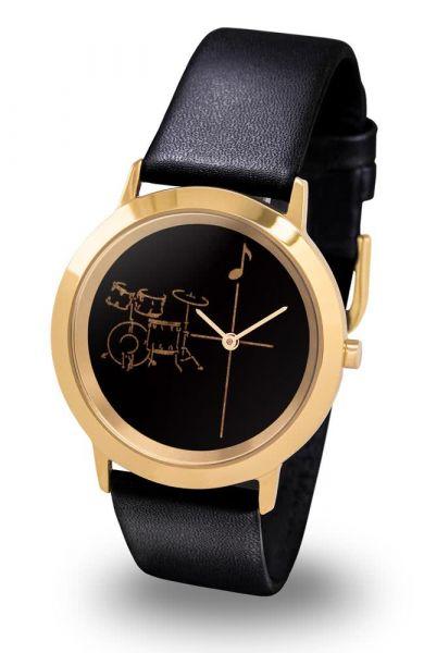 Armbanduhr Schlagzeug Gold Line