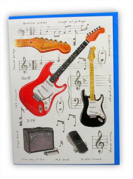 Klappkarte Musical Instruments: E-Gitarre