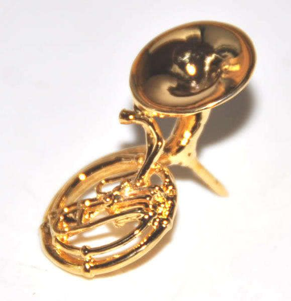 Pin Sousaphone gold-plated