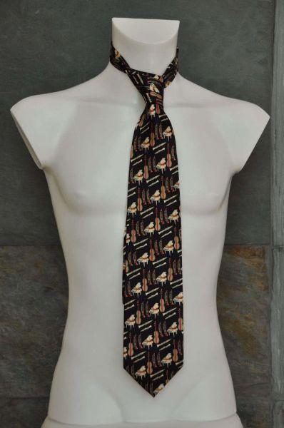 Krawatte Piano und Co schwarz