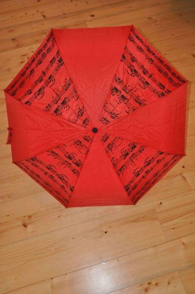 Taschenschirm Notenschrift Rot