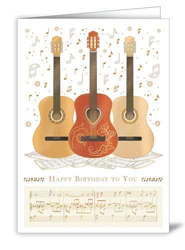 Geburtstagskarte Gitarren Trio