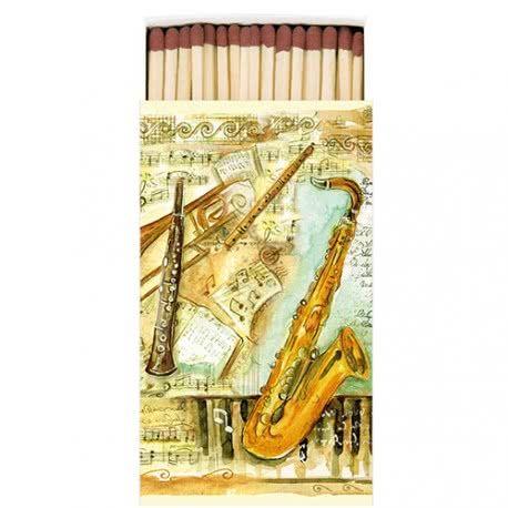Streichholzschachtel Musikinstrumente