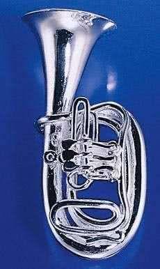 Bass-Tuba 3 Ventile als Brosche