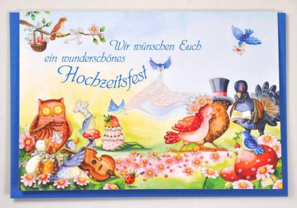 Doppelkarte Ein wunderschönes Hochzeitsfest