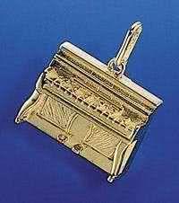 Klavier als Brosche
