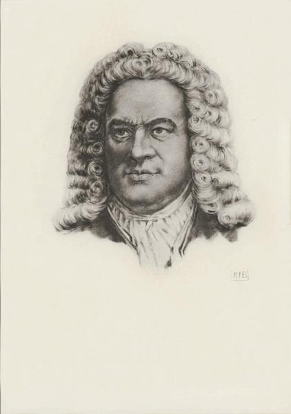 Klappkarte J.S. Bach