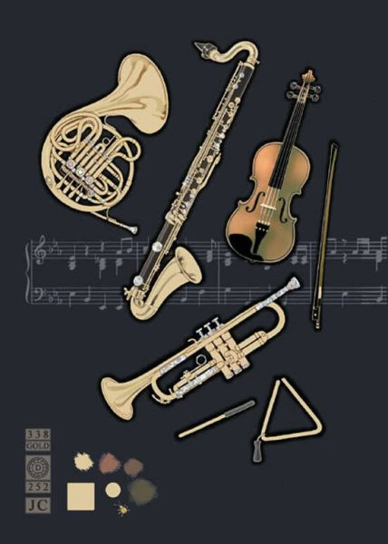 Klappkarte Orchestral