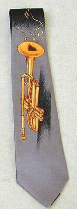 Krawatte Trompete grau