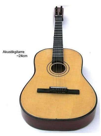 Miniatur - Akustikgitarre ~24cm