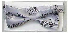 Fliege Bach Notenschrift silbergrau