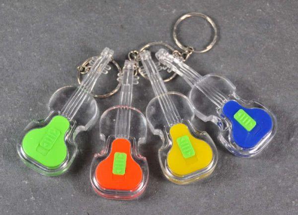 Schlüsselanhänger Violine 3D transparent mit LED