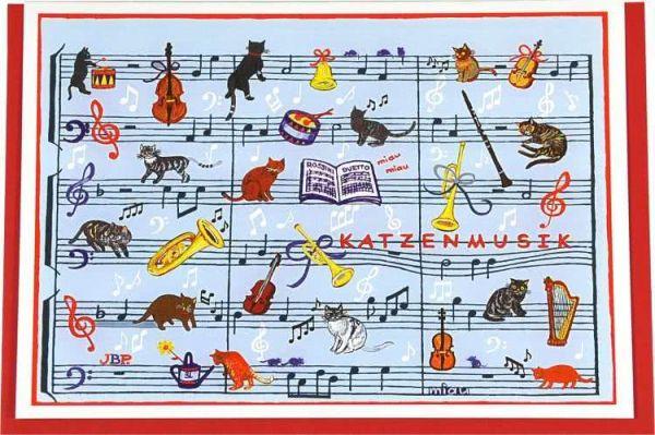 Klappkarte Rossinis Katzenmusik