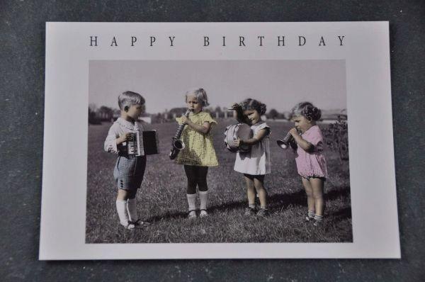Postkarte Geburtstagsband