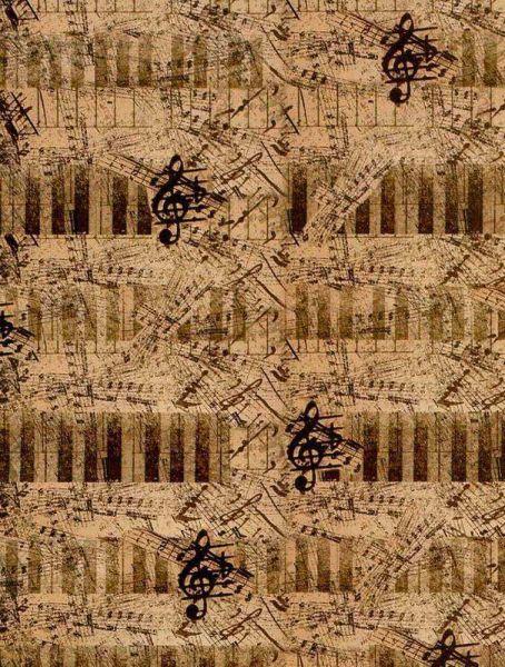 Geschenkpapier Motiv papeteria Musica