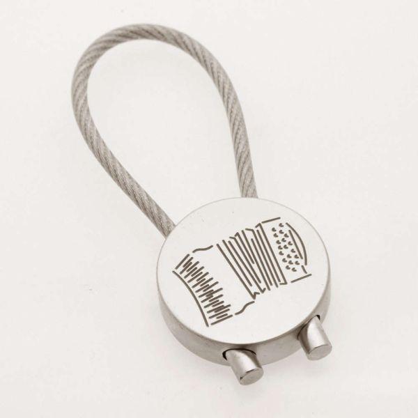 Schlüsselanhänger Akkordeon verchromt