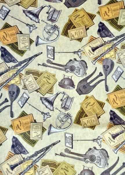 Geschenkpapier Musikinstrumente