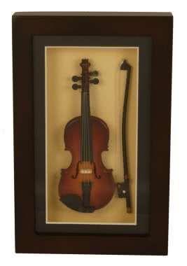 Deko-Objekt Geige im Rahmen 22x14cm