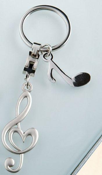 Schlüsselanhänger Notenschlüssel mit Herz u Achtelnote
