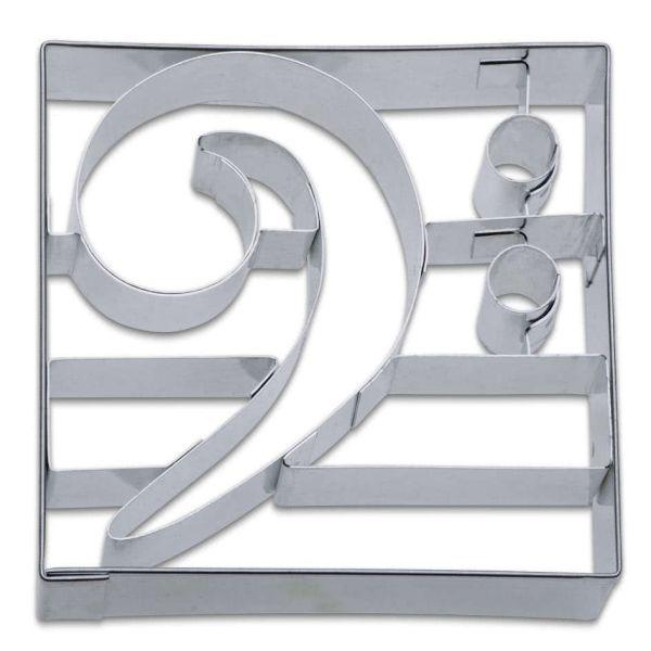 Ausstechförmchen Edelstahl Bassschlüssel
