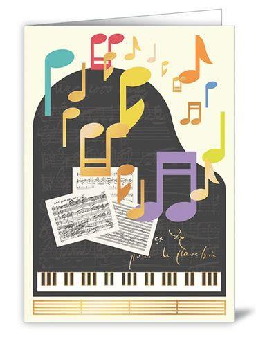 Doppekarte Grand Piano