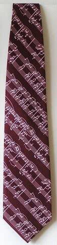 Krawatte Notenblatt dunkelrot