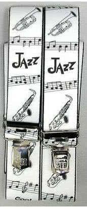 Hosenträger Jazz weiß/schwarz