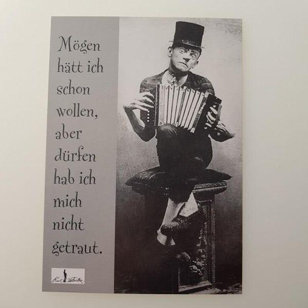 Postkarte Karl Valentin Mögen hätt ich schon...