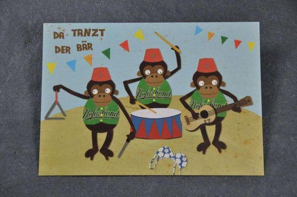 Postkarte Da tanzt der Bär
