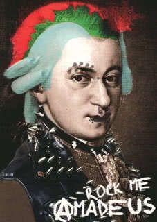 Postkarte Rock me Amadeus