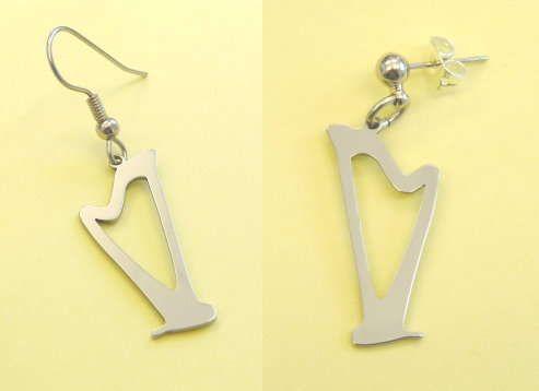 Ohrhänger Harfe Steel Design