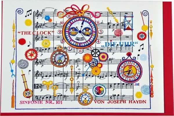 Klappkarte Haydns Sinfonie Nr.101 - Die Uhr