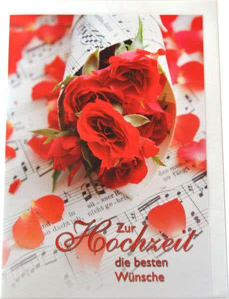 Riesenklappkarte Zur Hochzeit die besten Wünsche
