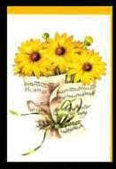 Klappkarte Sonnenblumen
