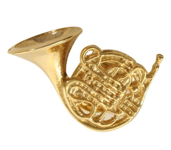 "Pin ""French Horn"" golden"