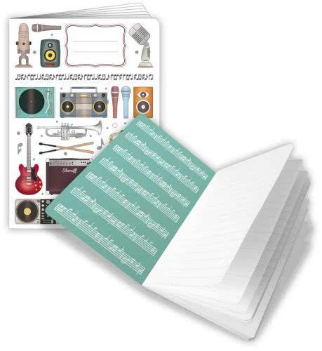 Notizheft Musik DIN A5 liniert
