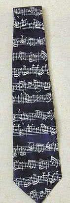 Krawatte Bach Notenschrift dunkelblau