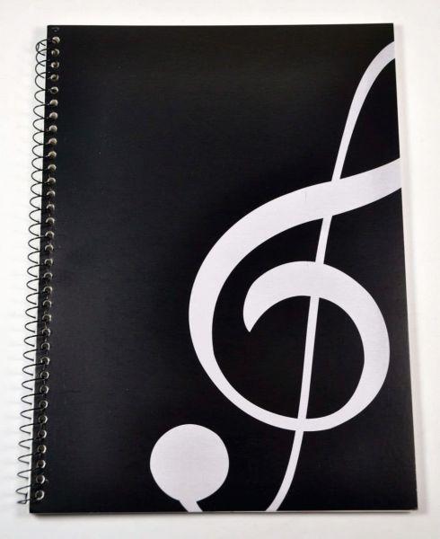 Heft (Notenpapier) Violinschlüssel schwarz